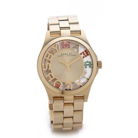 マークジェイコブス 時計/ヘンリースケルトン/MBM3263/ゴールド×クリスタルストーン