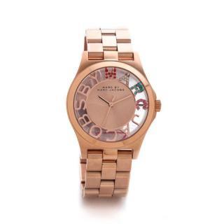 マークジェイコブス 時計/ヘンリースケルトン/MBM3264/ピンクゴールド×クリスタルストーン