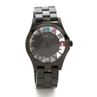 マークジェイコブス 時計/ヘンリースケルトン/MBM3265/ブラック×クリスタルストーン