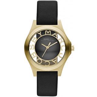 マークジェイコブス 時計/ヘンリースケルトン/MBM1340/ゴールド×ブラックレザーベルト