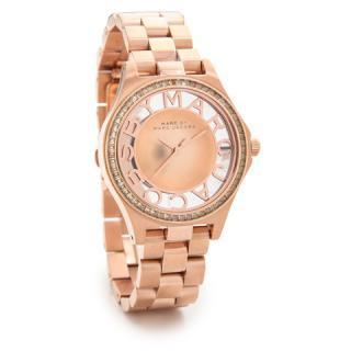 マークジェイコブス 時計/ヘンリースケルトン/MBM3339/ピンクゴールド×クリスタルストーン