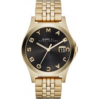 マークジェイコブス 時計 ザ・スリム MBM3315 ブラック×ゴールド