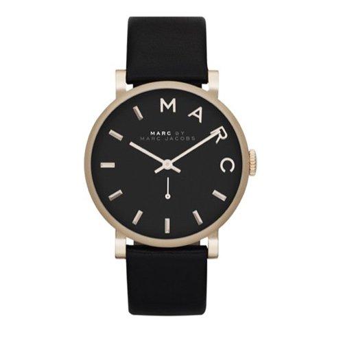 マークジェイコブス 時計 ベイカー MBM1269 ブラック×ブラックレザー