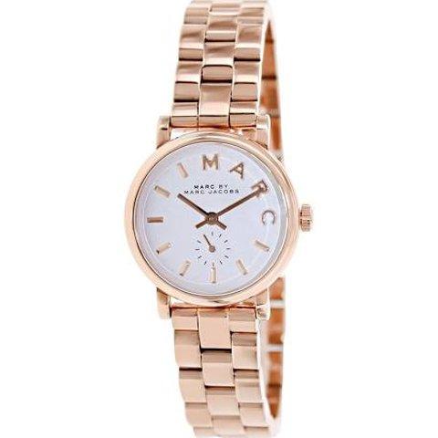 マークジェイコブス 時計 ベイカー MBM3248 ホワイト×ピンクゴールド