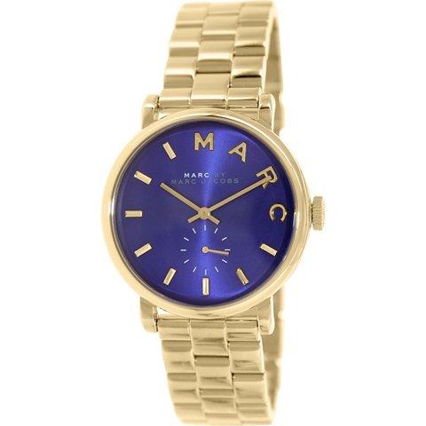 マークジェイコブス 時計 ベイカー MBM3343 ミネラルブルー×ゴールド