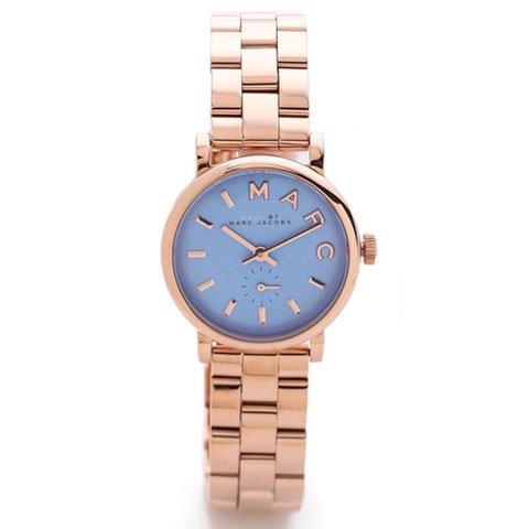 マークジェイコブス 時計 ベイカー MBM3285 ブルー×ピンクゴールド