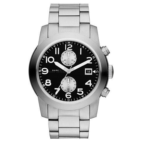マークジェイコブス メンズ腕時計 ラリー MBM5050 ブラック×シルバー