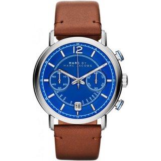 マークジェイコブス メンズ腕時計/ファーガス/MBM5066/ブルー×ブラウンレザー