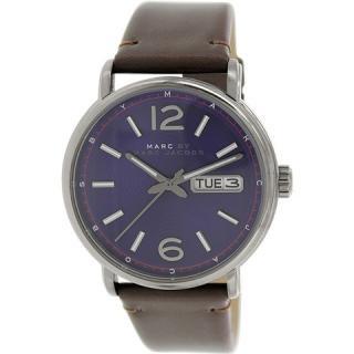 マークジェイコブス メンズ腕時計 ファーガス MBM5078 ミネラルブルー×ブラウンレザー