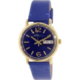マークジェイコブス レディース腕時計 ファーガス MBM8650 ディープブルー×ゴールド