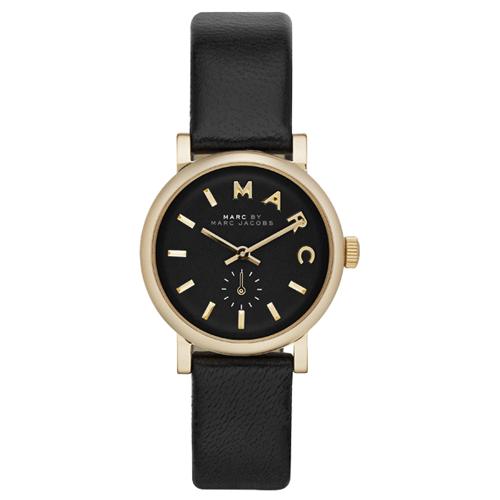 マークジェイコブス 時計/ベイカー/MBM1273/ブラック×ゴールド×ブラックレザーベルト