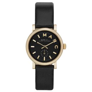 マークバイマークジェイコブス 時計/ベイカー/MBM1273/ブラック×ゴールド×ブラックレザーベルト
