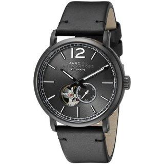 マークジェイコブス メンズ腕時計/MBM9717/ファーガス/オートマチック/セミスケルトン×ブラックレザーベルト