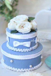 calt-3 ウエディングケーキ2段ブルー