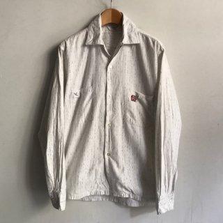 60〜70's TOWN CRAFT Cotton Shirt カスリストライプ