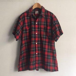 6〜70s' Cotton Short sleeve Shirt MILWAUKEE