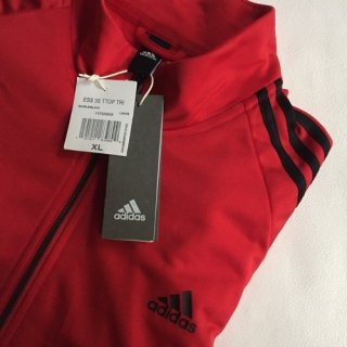 adidas Track Jacket Red DEAD STOCK US XL