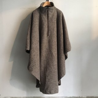 80s' Pullovers Wool Poncho MADE IN GERMANY