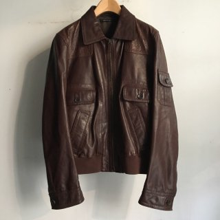 GUCCI  GENUINE LEATHER A-2 Jacket ITALY製 50