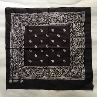 Paisley bandana black MADE IN USA