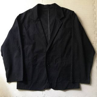 "Soft Cotton Chino Cloth ""Drop Wrap Jacket"" BLACK"