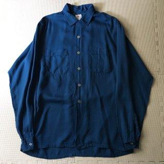60年代 Rayon Shirt EXTRA LONG BODY 15 1/2 35