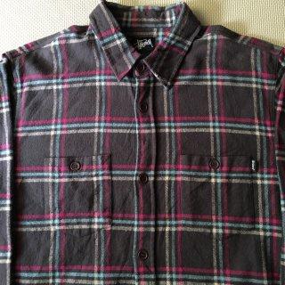 90年代 STUSSY Flannel Shirt XL ポケットタグ付き