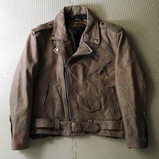 80年代 Leather Raiders Jacket 38 ベージュ