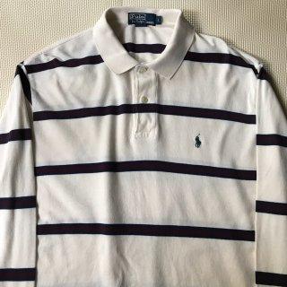 90年代 POLO by Ralph Lauren Long Sleeve Border POLO Shirt L