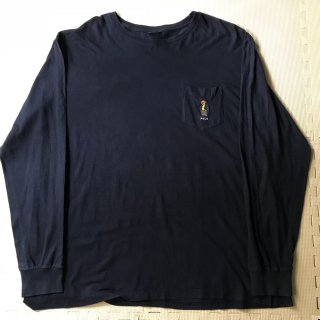 90年代 ポロラルフローレン ロンT ベアー XL 胸ポケ