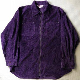 90年代 太畝 コーデュロイ フルジップ シャツ