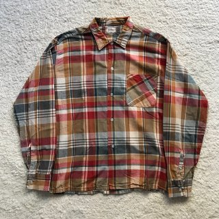 60年代 Donlin Cotton Cheak Shirt 16-16 1/2 MADE IN USA