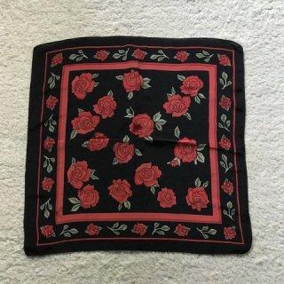 Vintage 100% Silk Rose Scarf