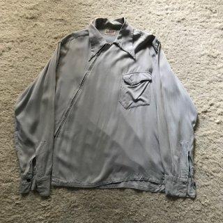 40年代 CAMPUS 変形 レーヨンシャツ M