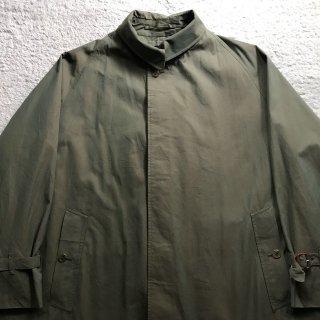 1960s Burberry's Balmacaan Coat MADE IN ENGLAND 玉虫色 一枚袖 100%COTTONバーバリークロス