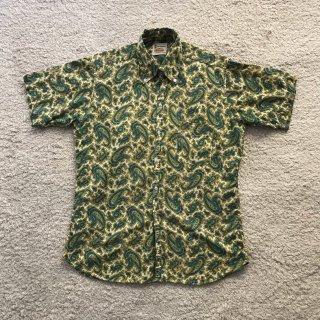 1970s Paisley BD s/s Shirt 15-M-15 1/2