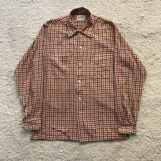 1960s Cotton Gingham Check Shirt 16-L-16 1/2