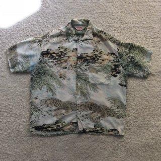 1950s Rayon Aloha shirt 鷹和柄 L