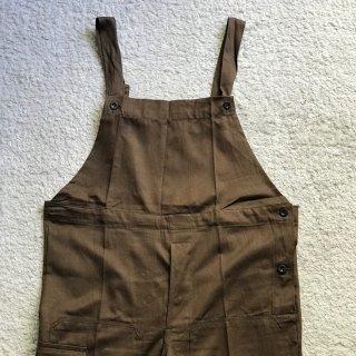 Vintage Czechoslovakia Military Cotton  Overall ブラウン デッドストック
