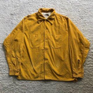 50年代 E&WCorduroy Shirt L 16-16 1/2 マスタード MADE IN USA