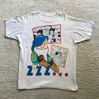 90年代 七人のこびと プリント コットン S/S Tシャツ