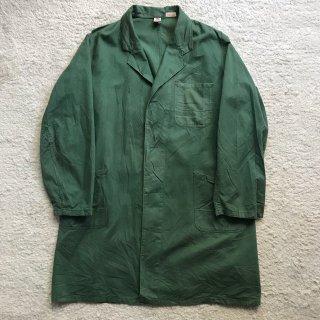 80年代 BPドイツ Vintage アトリエ コート 52緑 フロントボタンなし