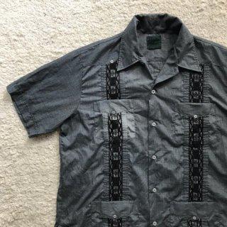 90年代 Cuba Shirt 黒刺繍