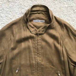 90年代 KATHARINE HAMNETT Linen Drizzer Jacket
