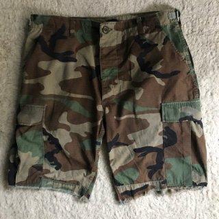 U.S.Military Woodland Camo Shorts