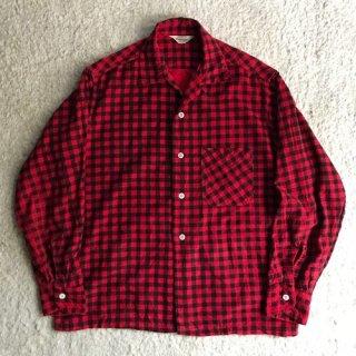 60年代 PENNEY'S Print Flannel Shirt