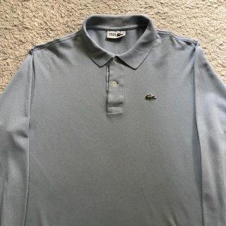 80年代 CHEMISE LACOSTE Polo Shirt 5 ブルーグレー Made in France
