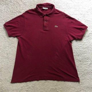 80年代 CHEMISE LACOSTE Polo Shirt 7 バーガンディMade in France