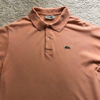 80年代 CHEMISE LACOSTE Polo Shirt  6 ライトサーモンピンク Made in France