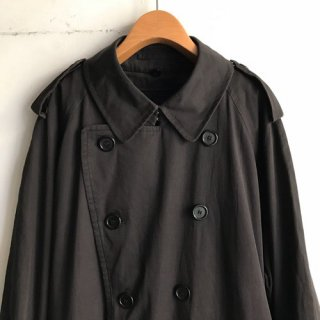 1980s Burberry's Tranch Coat Black